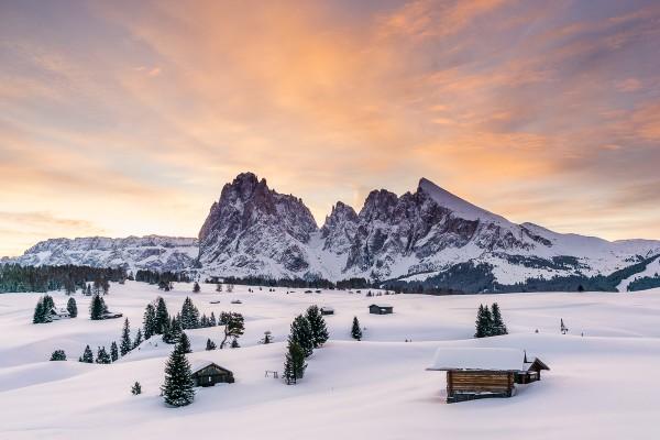 Winter Seiser Alm 140x90cm