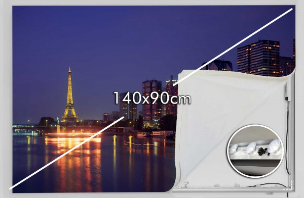 140 x 90 cm LED-Leuchtrahmen Eigenes Motiv