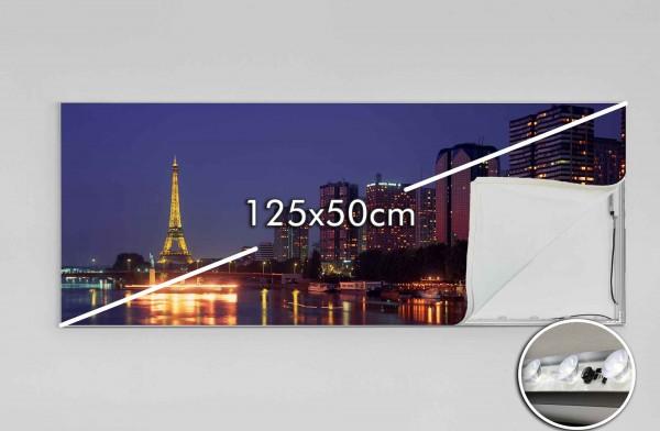 125 x 50 cm LED-Leuchtrahmen Eigenes Motiv
