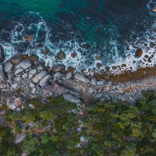 Stone Beach 50x50cm