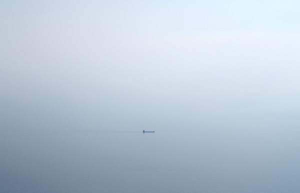 Einsames Schiff 140x90cm
